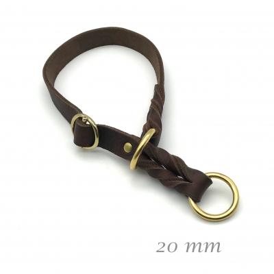 Leder Lasso Halsband standard m. Stopp 20mm breit
