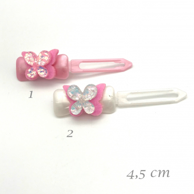 Dog hairclip with application - Butterfly