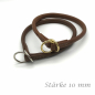 Preview: Round leather Lasso collar standard 10 mm thick