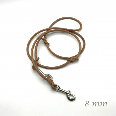 Core leather leash 2 m - 8 mm 3-fold braided in