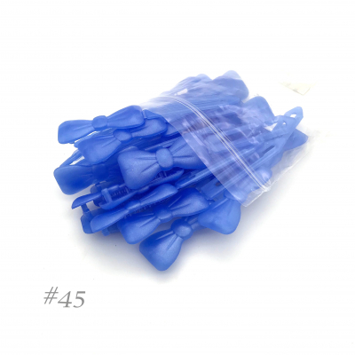 Auer Hairclips Big Pack #45 bleu perle transparent
