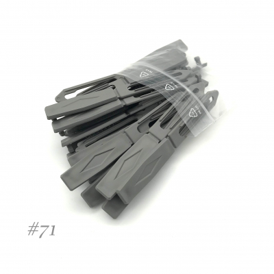 Auer Hair Clips Big Pack #71 mouse grey