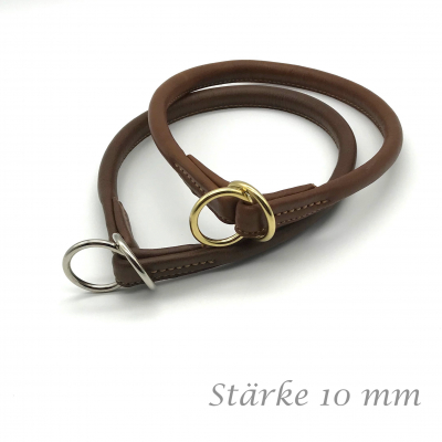 Round leather Lasso collar standard 10 mm thick