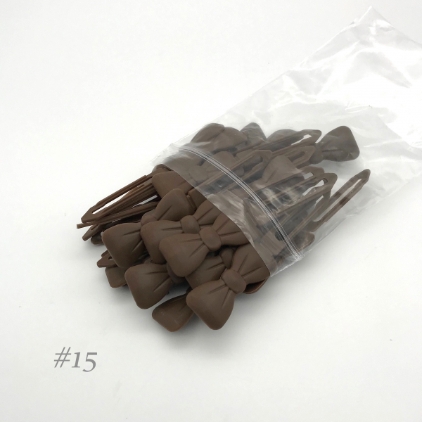 Auer Hairclips Big Pack #15 marrone cioccolato