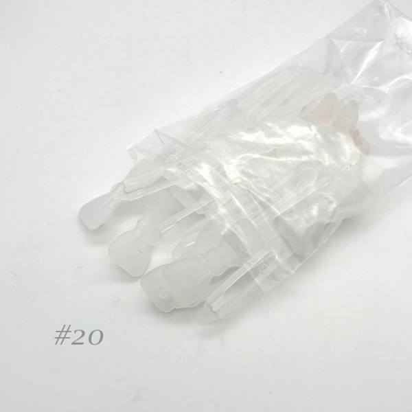 Auer Hair Clips Big Pack #20 transparent