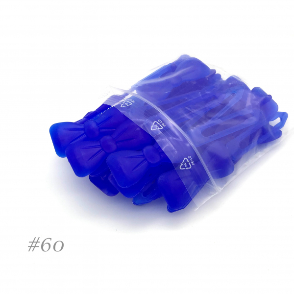 Auer Hairclips Big Pack #60 blu royal trasparente
