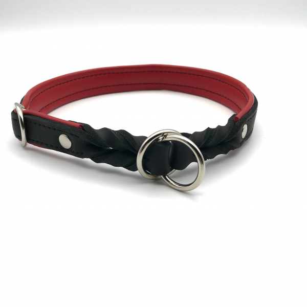 Leather Lasso Collar lined with nappa leather infinitely adjustable